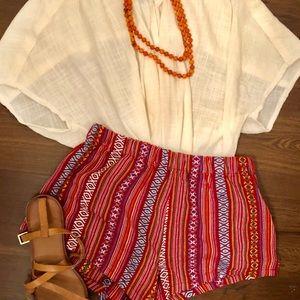 Aztec Boho Shorts